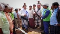 """محافظ سقطرى يفتتح  المرحلة الأولى من مشروع تأهيل مياه """"حديبو"""""""