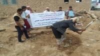 منظمة ثري تراكس تنفذ مشروع الصرف الصحي لمخيمات النازحين بمأرب
