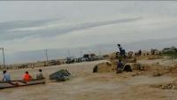 أمطار غزيرة وسيول تعيق حركة التنقل في قشن بالمهرة والسلطات تحذر