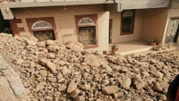 تضرر منازل إثر انهيار صخري في كريتر بعدن