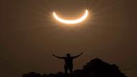 كسوف حلقي للشمس في سماء اليمن (صور)