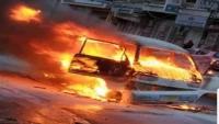 صاحب الباص.. قصة شاب احترق باصه في صنعاء وتحولت لتضامن اجتماعي واسع