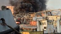 حريق هائل يطول منازل عدة شرقي لبنان