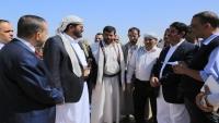 محافظ مأرب ووكيل وزارة الكهرباء يدشنان حملة تركيب 4400 عداد
