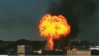 انفجار محطة غاز وسط مدينة البيضاء والضحايا بالعشرات (فيديو)
