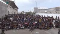 لاجئون أفارقة يتظاهرون لليوم الثاني على التوالي بصنعاء تنديداً بحادثة حريق مركز الإيواء