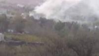 جماعة الحوثي تحرق منزل قيادي بمقاومة الضالع في منطقة الفاخر