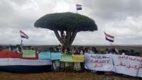 """""""اعتصام سقطرى"""" تدين انتهاكات الانتقالي وحظره لأنشطة اللجنة وفعالياتها بالأرخبيل"""