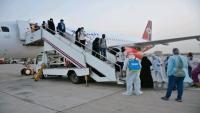وصول الدفعة الرابعة من اليمنيين العالقين في الهند إلى عدن