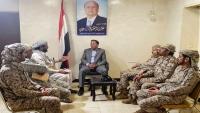 نائب رئيس البرلمان جباري يصل مأرب ويلتقي بوزير الدفاع ورئيس هيئة الأركان