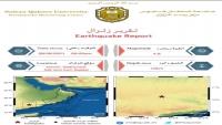 رصد زلزال بقوة 4.6 درجة شمال وادي حضرموت