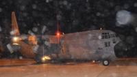 طائرة عسكرية سعودية تنقل 90 عالقا من سقطرى إلى المهرة