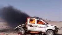 إصابة ثلاثة مدنيين بانفجار لغم للحوثيين في الجوف